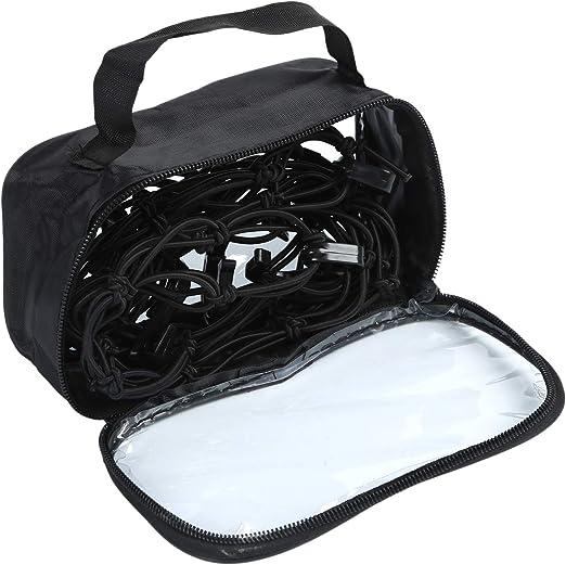 REFURBISHHOUSE Rete Portabagagli per Auto Rete Porta Casco Net Rete per Casco Moto Copertura Serbatoio in Rete Sundries Cintura 1 Tasca Portaoggetti