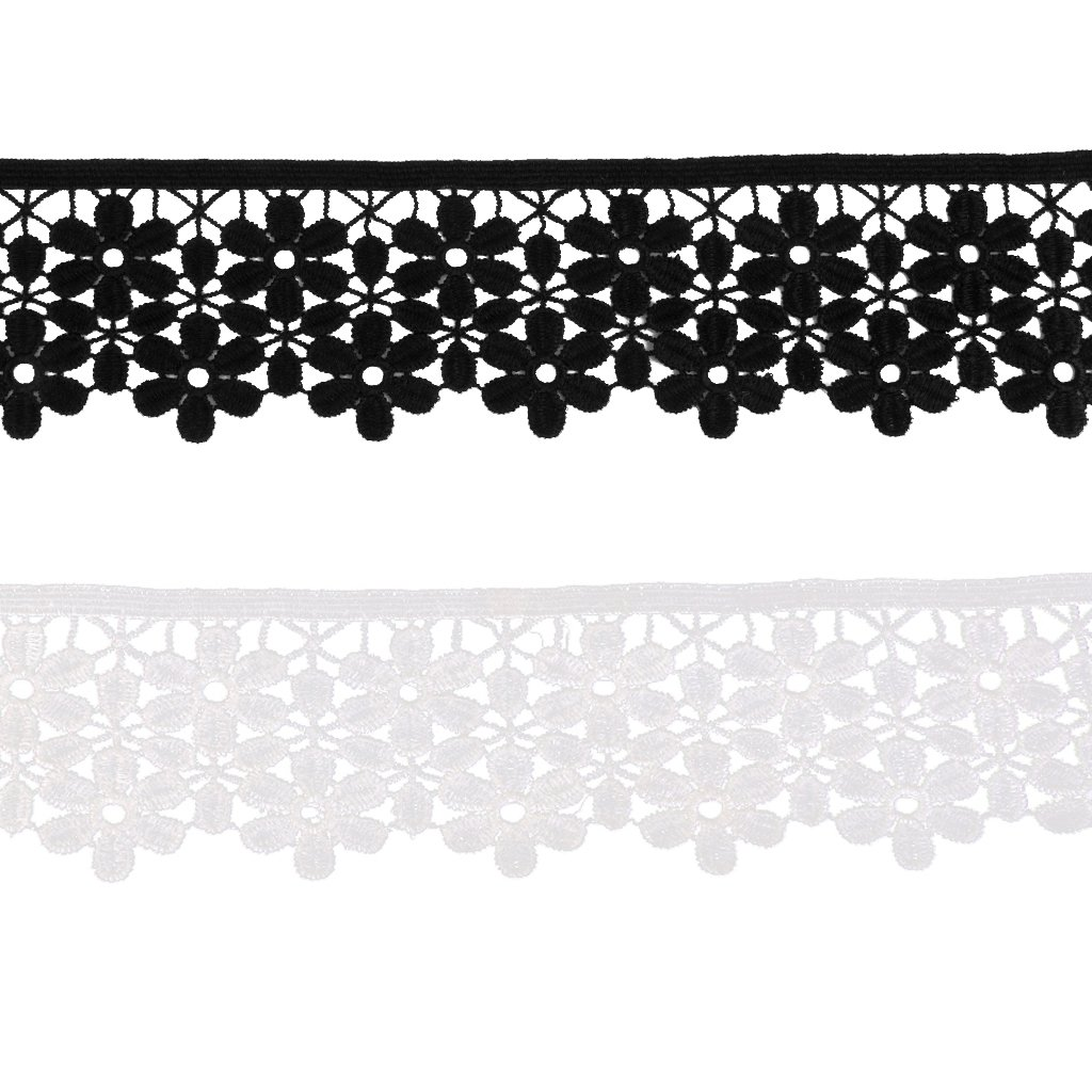 Baoblaze Spitzenborte Spitzenband Zierband Spitzenbord/üre Blume Borte Schleifenband N/ähzubeh/ör Applikation H/äkel-Borte Kleidung Deko