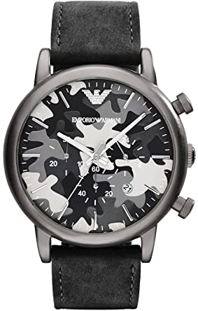 2d235924a54 Image Unavailable. Image not available for. Colour  Emporio Armani AR1816  Chronograph Grey Camouflage Dial Men s Watch