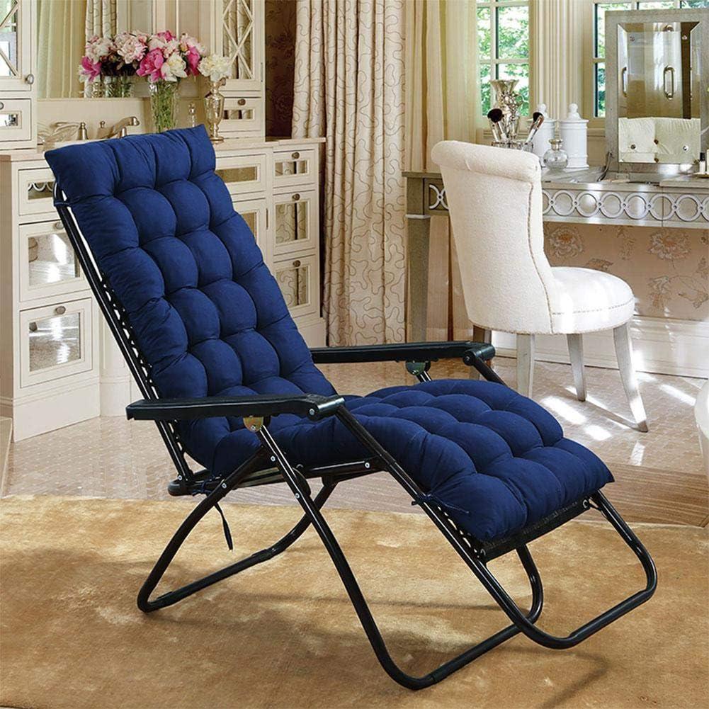 stuoia di Seduta Pieghevole in Morbido Cotone per Sedia a Sdraio per mobili da Giardino Cucina o Panca da Pranzo Interna ed Esterna 48x125cm Blu AINIYUE Cuscino per Sedia a Dondolo