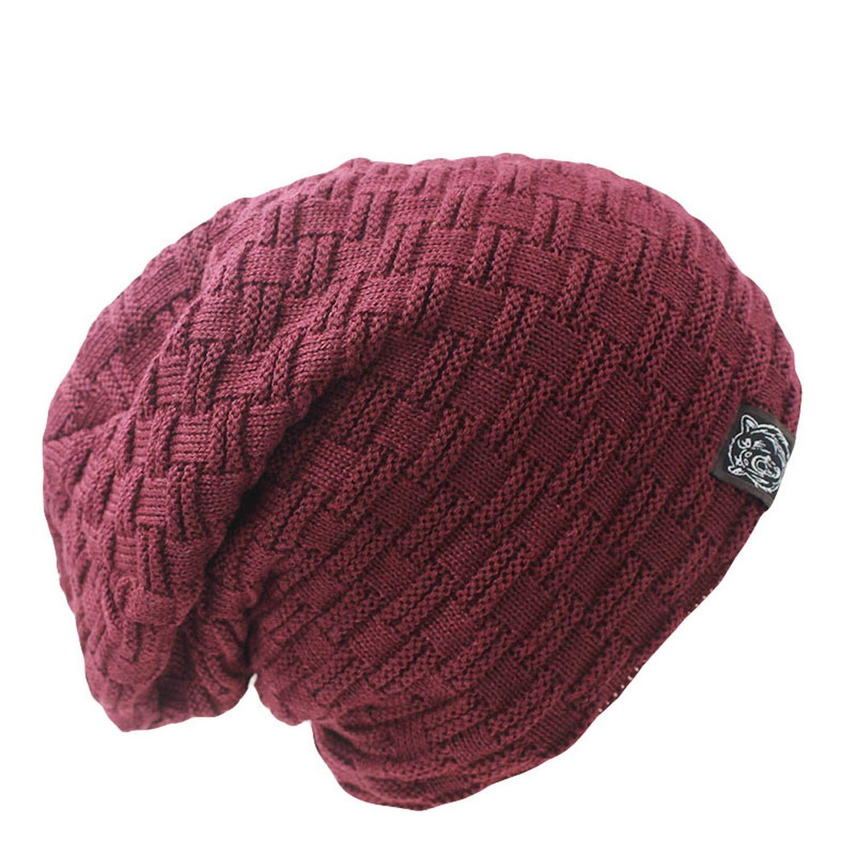 MingDe Sports Fashion Men Women Warm Snow Winter Casual Beanies Solid 6 Colors Knit Hat Cap Casual Male Bonnet