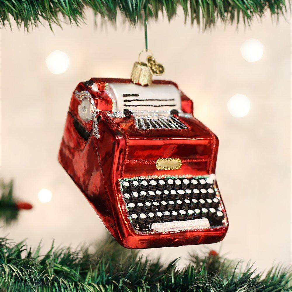 Old World Christmas Typerwriter Glass Blown Ornament