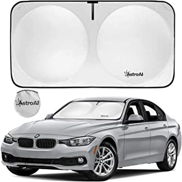 Foldable and Portable Car Front Window Sun Shade Blocks UV Light and Sun Rays Protect and Cool Your Vehicle Interior AstroAI Windshield Sun Shade Small 59.1 x 27.58 inches