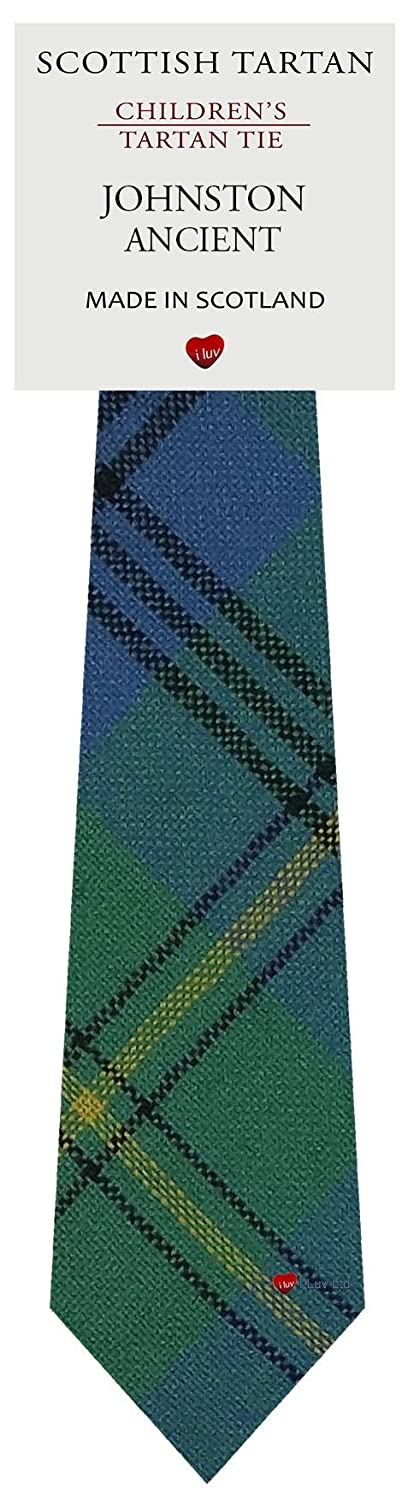 Boys Clan Tie All Wool Woven in Scotland Johnston Ancient Tartan I Luv Ltd