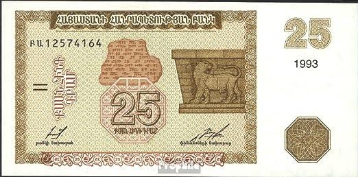 Prophila Billetes para coleccionistas: Armenia 34 UNC 1993 25 Drams: Amazon.es: Juguetes y juegos