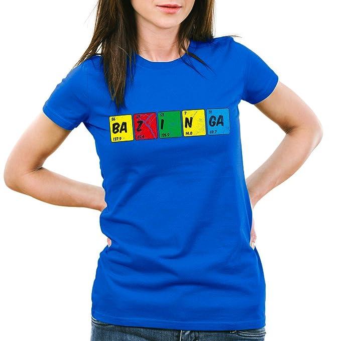 CottonCloud Sheldon Tabla Periódica Camiseta para mujer T-Shirt química, Color:Azul;