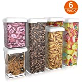Airtight Food Storage Containers with Lids 6 Piece Set, Cereal Container Storage Containers for The Pantry Ideal for…