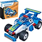 Kids Racing Car Construction Building Blocks and Bricks Intelligence Learning and Activity Toys for Children Girls Boys Age Over 4 Years Old, Model 8612, 125pcs