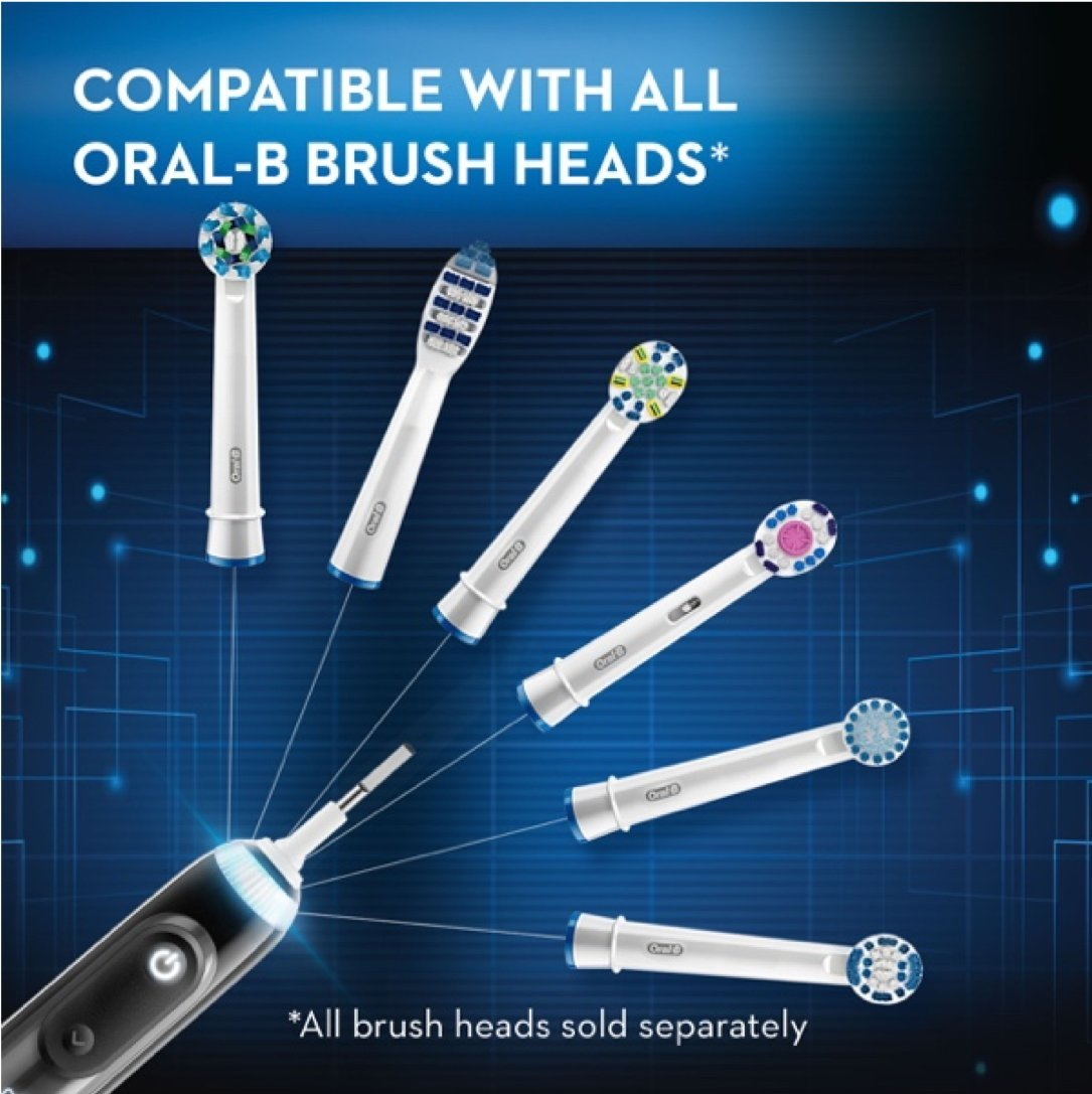 Oral-B Pro 7500 Power Rechargeable Electric Toothbrush Powered By Braun, Black by Oral B (Image #10)