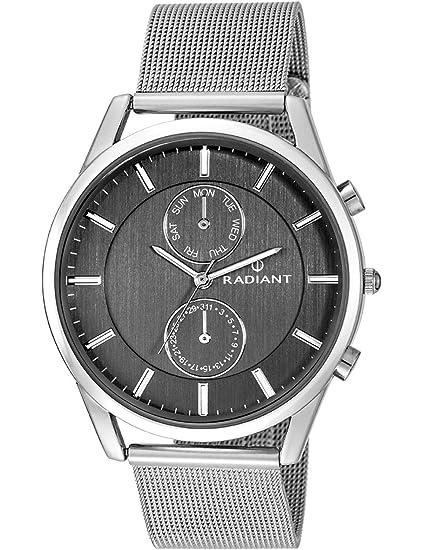 Radiant Reloj Analógico para Hombre de Cuarzo con Correa en Acero Inoxidable RA407701: Amazon.es: Relojes