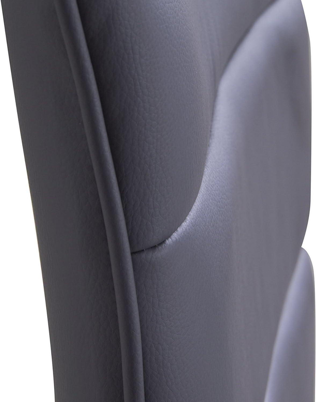 Acero Cromado Color Blanco Altura Regulable Juego de 2 Asiento Acolchado Antideslizante Woltu bh15ws de 2/Taburete de dise/ño con Mango Goma Fabricado con Piel sint/ética