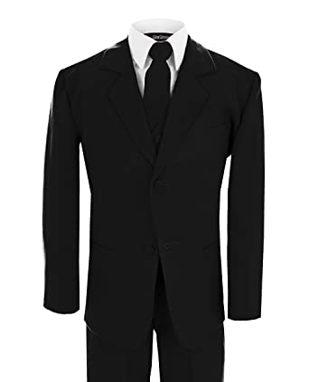 Amazon.com: Gino Giovanni Wedding Toddler Boy Formal Suit Black Size ...