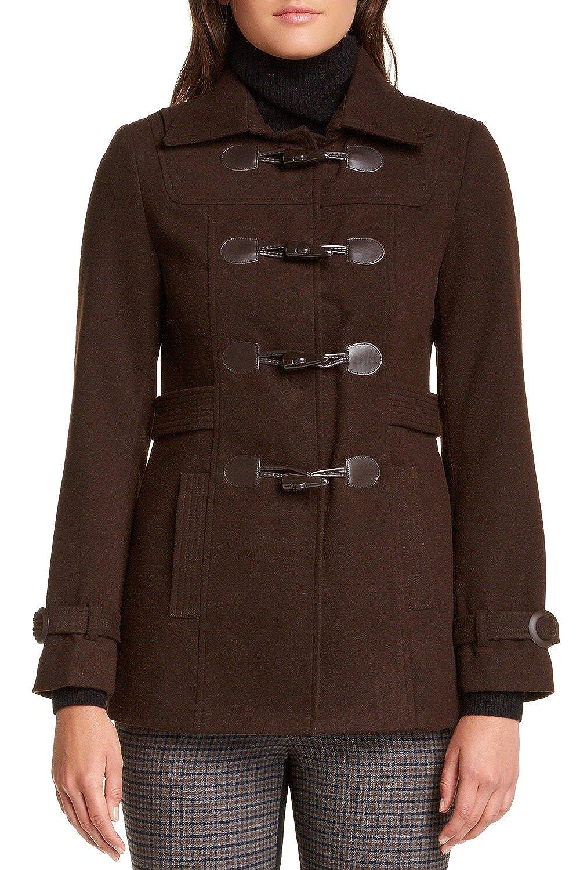 VERTIGO PARIS Womens Classic Duffle Style Toggle Coat