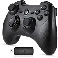 Wireless Game Controller, EasySMX ESM-9101 2.4G Wireless Gamepad, Dual Shock, Turbo PS3 / Android Phone Tablet/PC / TV…