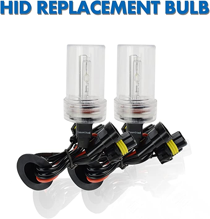 Innovited HID Xenon H11 H9 H8 6000K Replacement Bulbs 2 Year Warranty 1 Pair Diamond White