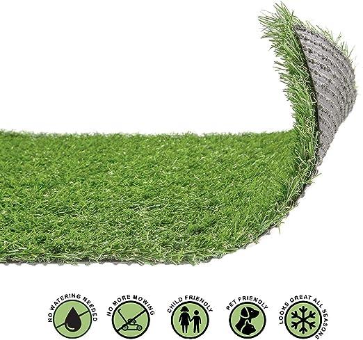 20mm Artificial Grass Luxury Turf Fake Cheap Lawn Astro Natural Green Garden