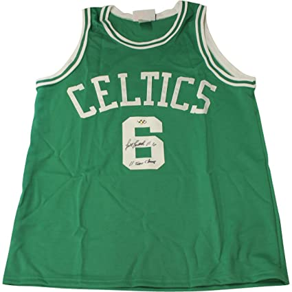 e12642cf0 Image Unavailable. Image not available for. Color  Bill Russell Signed  Custom Green Celtics Jersey ...
