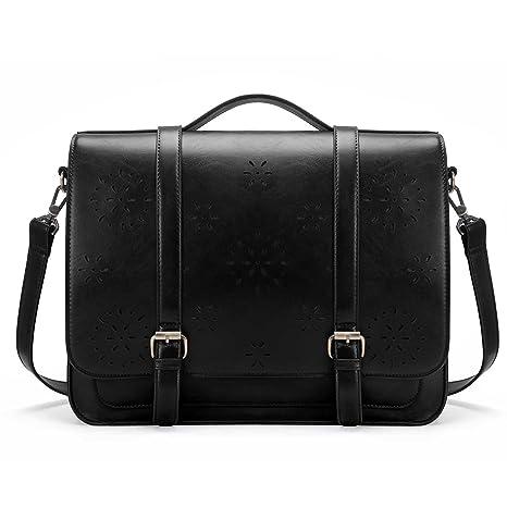 2b69c86a050 Image Unavailable. Image not available for. Color  ECOSUSI Women Briefcase  PU Leather Laptop Backpack Shoulder Computer Bag Messenger Satchel fit 14  ...