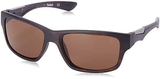 Amazon.com: Timberland Men\'s TB9078 Polarized Wrap Sunglasses, Brown ...