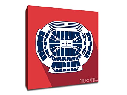 Amazon.com: Atlanta - Philips Arena - Basketball Seating Map - 16x16 ...