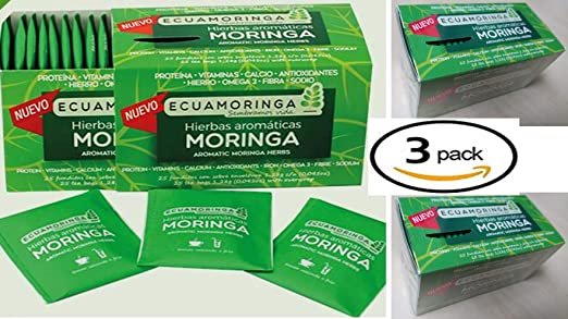 Amazon.com : MORINGA 75 TEA BAGS Super food Tea, 25 ...