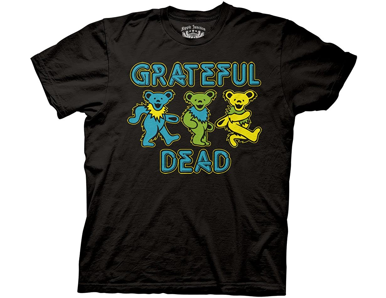 Ripple Junction Grateful Dead Three Dancing Bears Adult T-Shirt Black