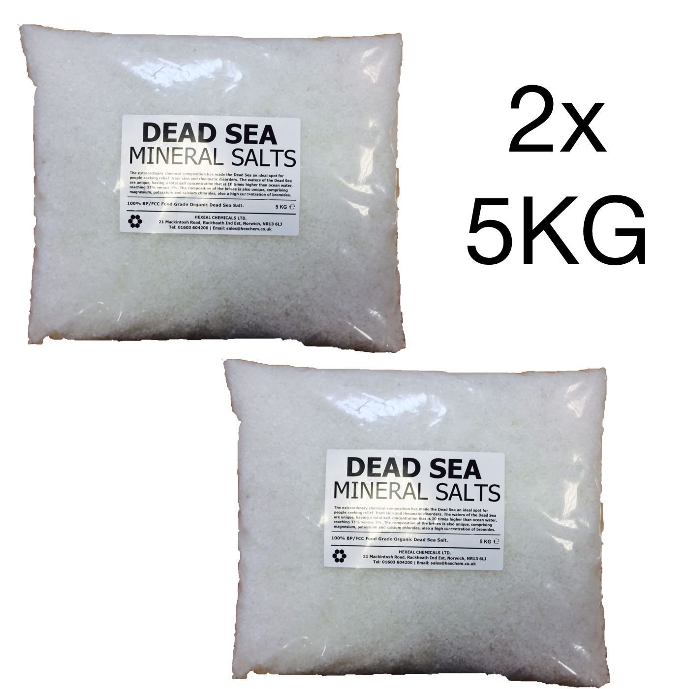 DEAD SEA BATH SALTS | 10KG BAG | 100% Natural Organic | FCC Food Grade Dead Sea Works Ltd.