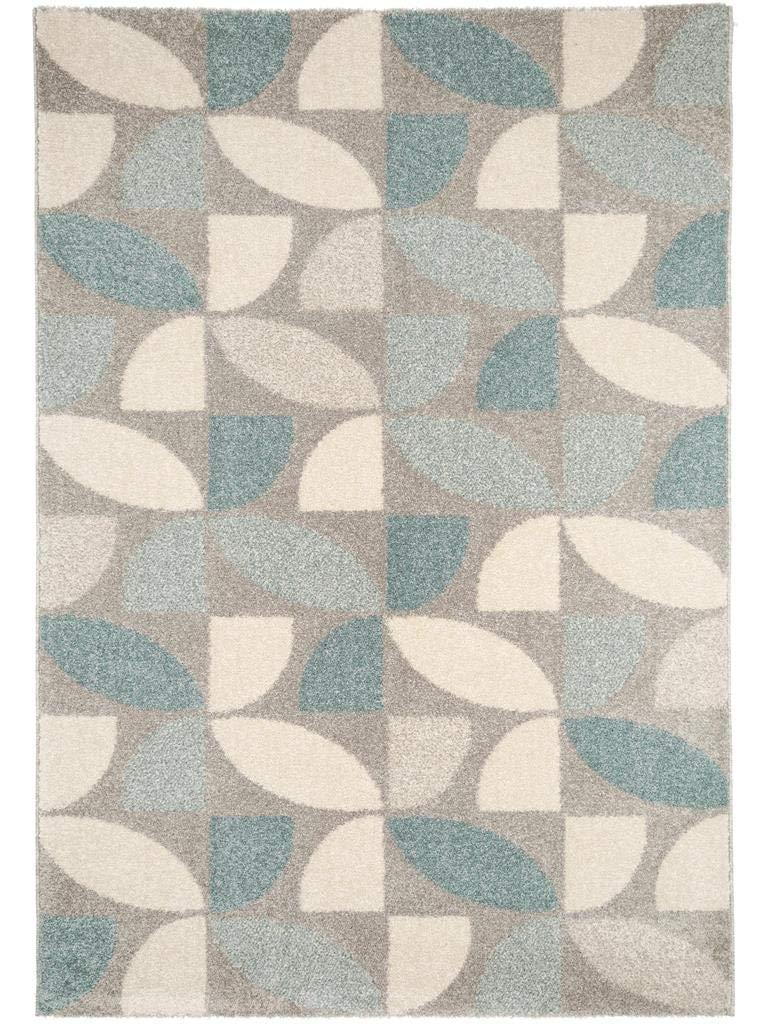 Benuta Teppich Pastel Mosaik Blau 120x170 cm   Moderner Teppich für Wohn- und Schlafzimmer