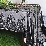 Lace-Tablecloth-Rectangular 60x120-Inch White EmbroideredLaceTableclothElegantBirthdayTableDecorationNettingLaceTabl