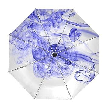 ALAZA Resumen de Humo de Color de Tinta de Viaje Paraguas de Apertura automática Cerca de