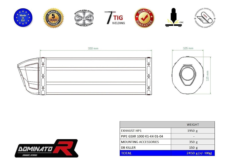 GP I DB KILLER Dominator Exhaust Silencieux /échappement SUZUKI GSXR K1-K4 1000
