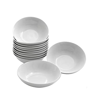 10 Strawberry Street CATERING-12-BOWL-W Catering Bowl Set, White