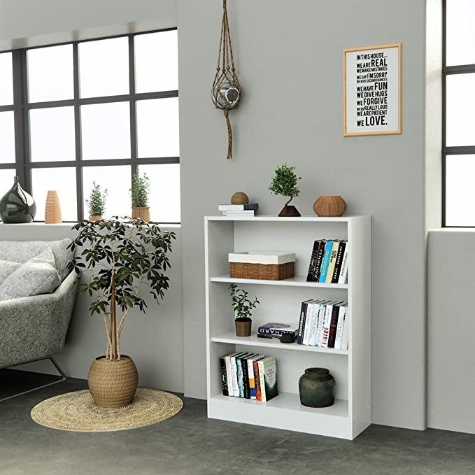 INFINIKIT Haven Pequeño Librero , Blanco, 79x104,5x28 cm