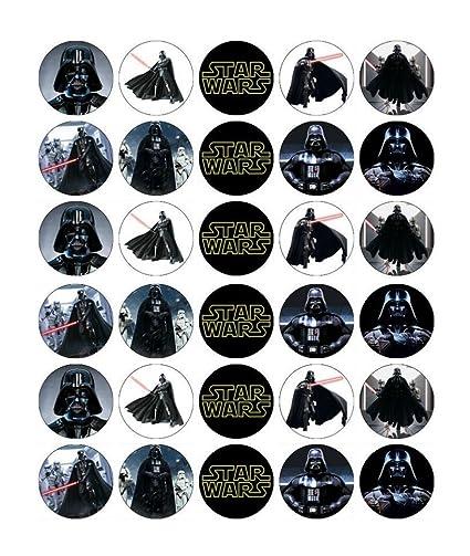 Amazon.com: Star Wars Darth Vader Cupcake Toppers ...