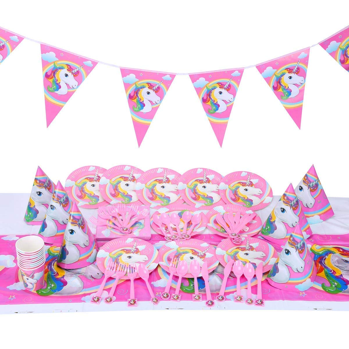 and Cups Amscan Twinkle Little Star Party Supplies Pack for 16 Guests: Stickers Dinner Plates Luncheon Napkins Table Cover