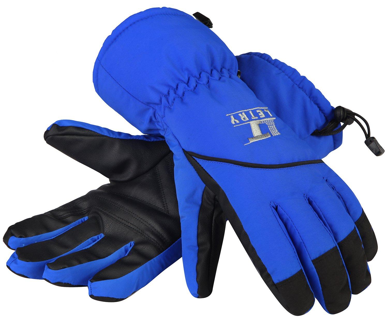 letryメンズレディーススキー手袋冬アウトドアスポーツ練習熱防水オートバイ手袋 B07769L16X   X-Large