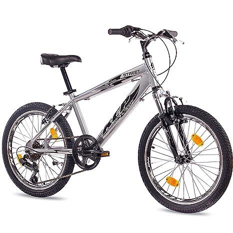 20 Kcp Bici Bambini Mountain Bike Street Alluminio 6v Shimano 508 Cm 20 Pollici