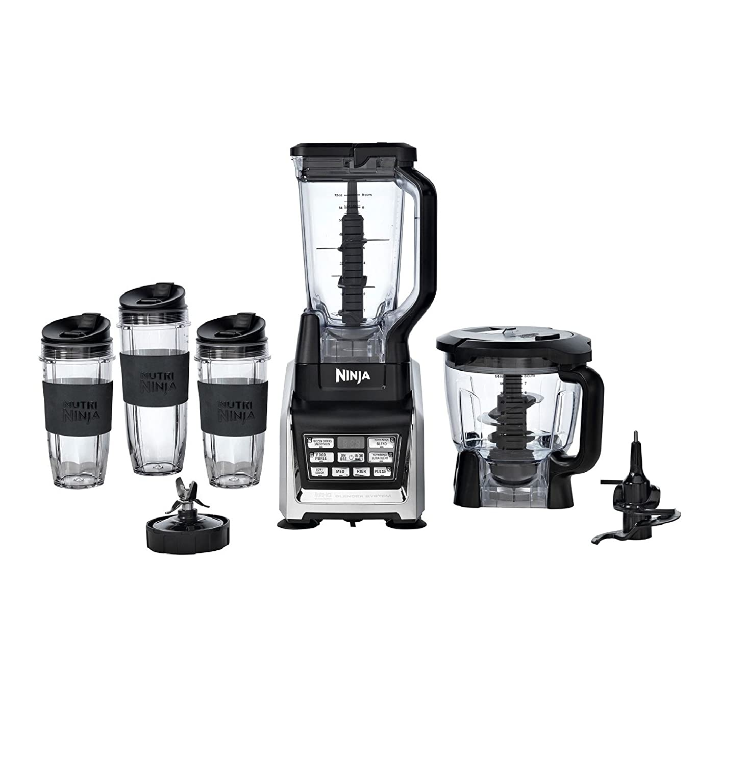 Nutri Ninja Auto-IQ 1500W Duo Nutrient Extraction Blender System ...