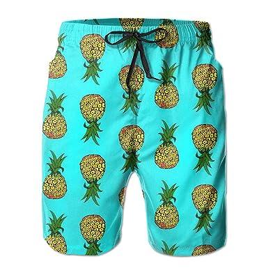 f22c6b26d6 Amazon.com: Men's Pineapples On Turquoise Boardshorts Swim Sports ...