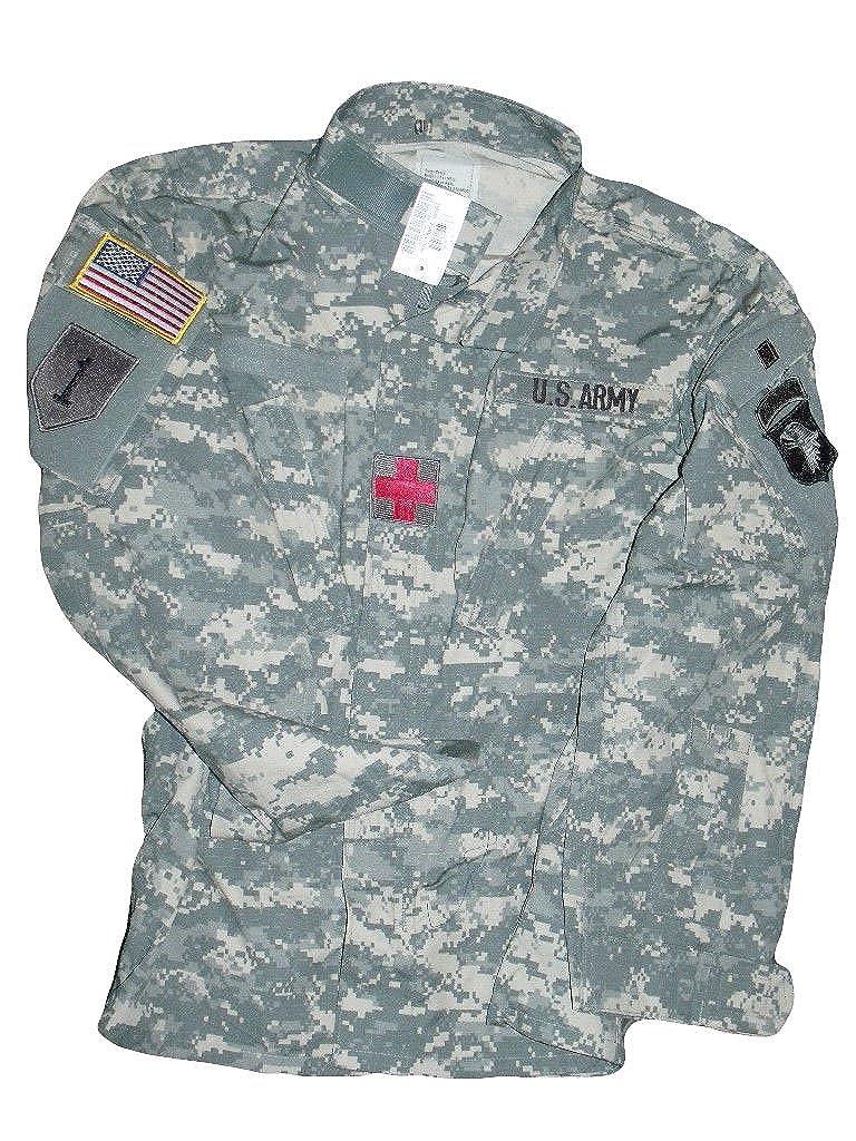 af5f8e9210a55 Amazon.com: New US Army Military ACU Digital Combat Coat Uniform Jacket Top  Shirt + Patches: Clothing