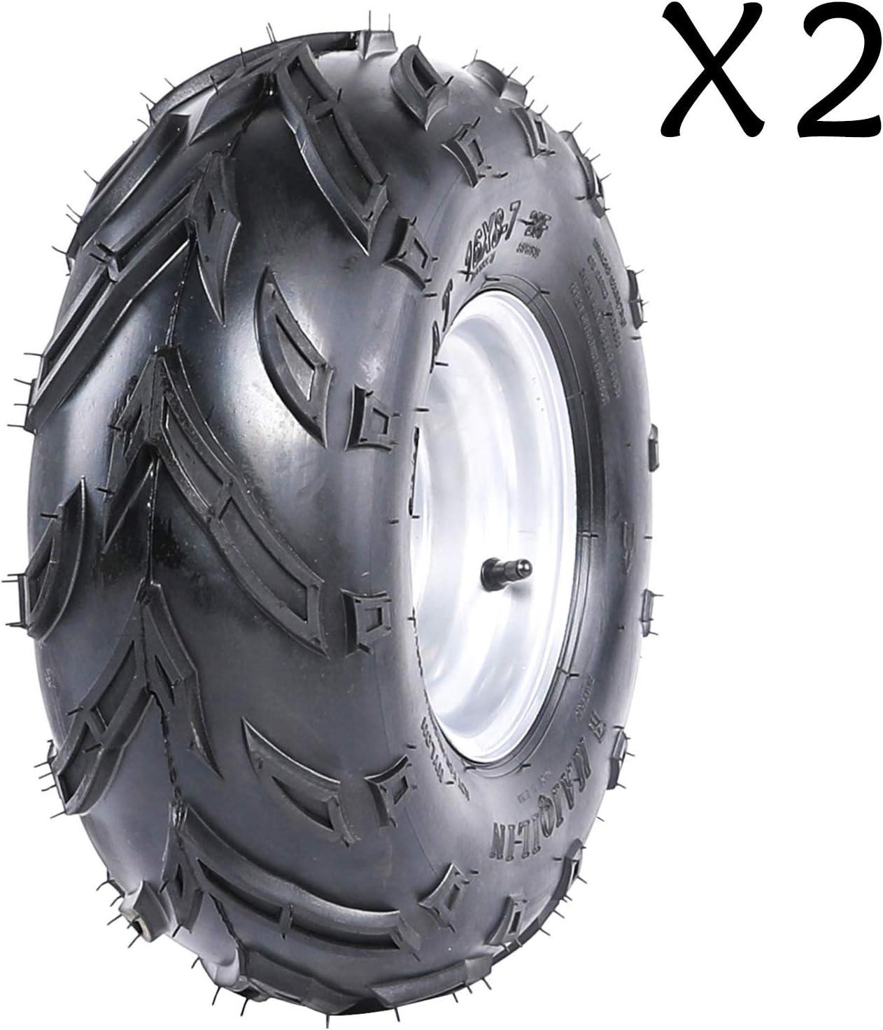 AR DONGFANG 2pcs ATV Tires 16X8-7 Tubeless Quad UTV Go Kart Tires ATV Tire 4PR