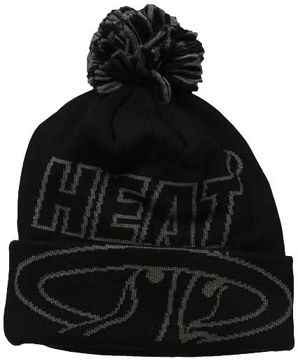 0e38af1cc18 Amazon.com   NBA Miami Heat Fanwear Black Cuffed Pom Knit