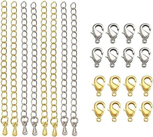 color platino-plata 2 x 1,5 mm Eslabones cadena de latón para la fabricación de joyería