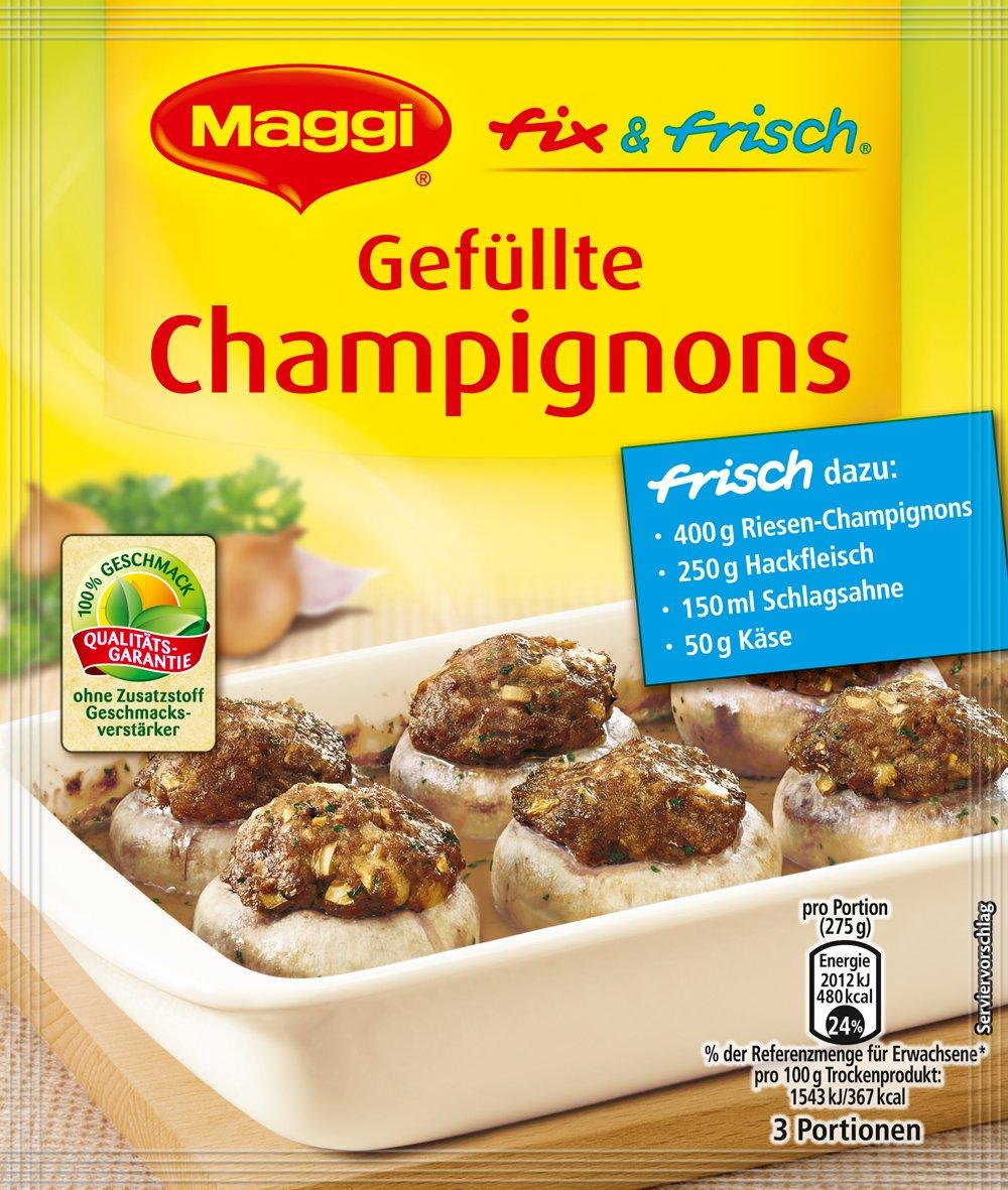 überbackene champignons mit hackfleisch