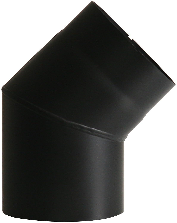 Coude Chemin/ée Test/é EN-1856-2 /Épaisseur denv 150 mm Noir,/Ø env 2 mm Kamino-Flam Tuyau de Po/êle Coude Coude de Po/êle 45/° en Acier Laqu/é Senotherm R/ésistant /à la Chaleur