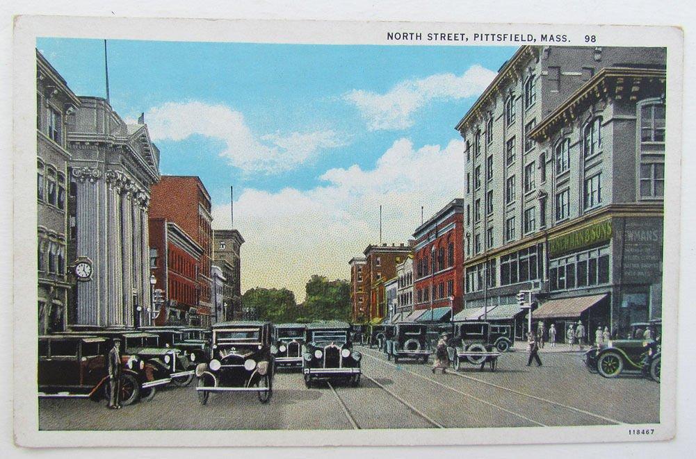 Ma Sales Tax On Cars >> Amazon Com Vintage Postcard North Street Pittsfield