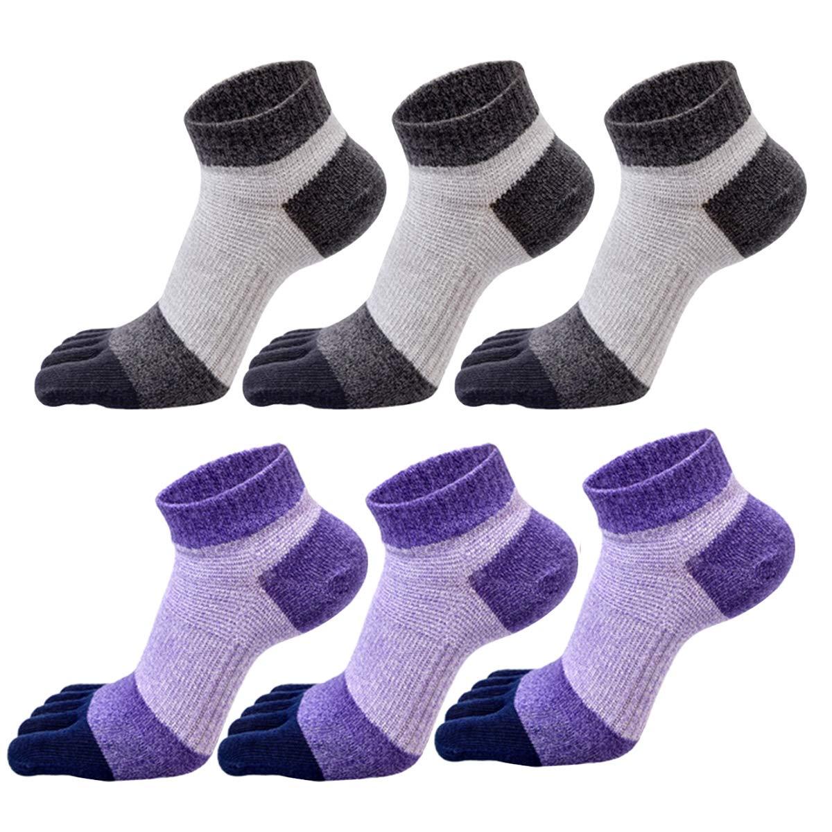 GINZIN mujeres Deportes Cinco calcetines del dedo del pie 6 pares,cinco calcetines de los dedos,calcetines de deporte,calcetines cinco dedos mujeres