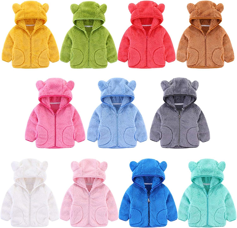 Uamaze 1-6T Kids Winter Fleece Jackets Cute Ears Hooded Coats WAS £17.98 NOW £8.99 w/code NJLIE7UV @ Amazon