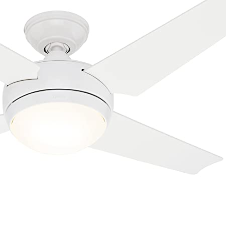 Hunter Fan 52 Inch White Finish Ceiling Fan With White/ Maple Reversible Blades (Certified Refurbished) by Hunter Fan Company