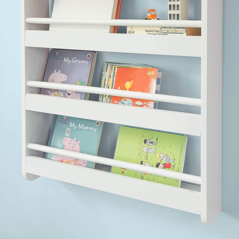 Sobuy Kmb08 K W Kinderregal Bücherregal Für Kinder Wandregal
